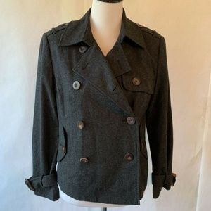 Larsen Peacoat Gray Double Breasted Button 10